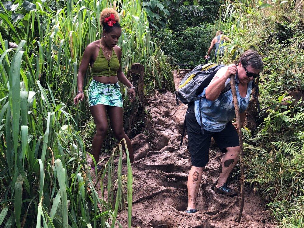 Muddy trail to Quinn's Bath, Princeville