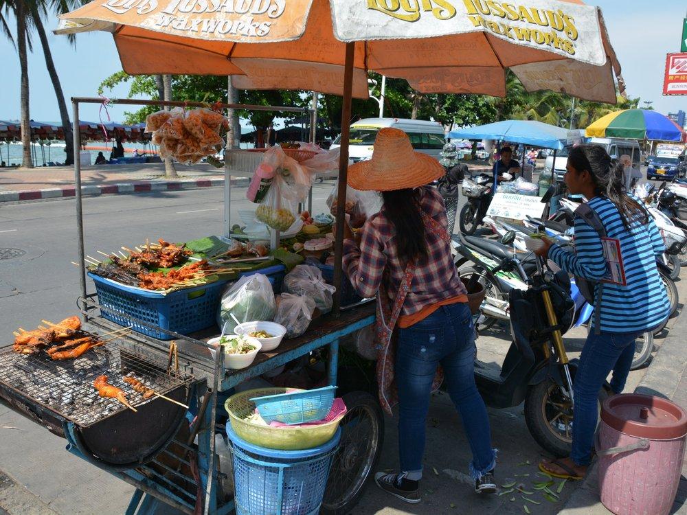 Street stalls in Pattaya, Thailand