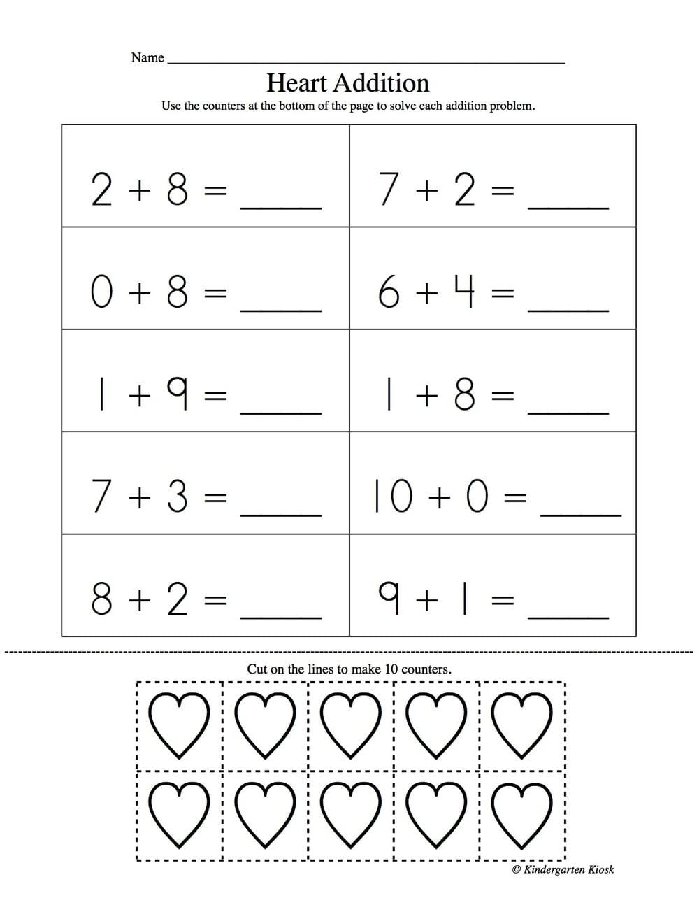 math worksheet : addition worksheets for kindergarten  kindergarten kiosk : Picture Addition Worksheets For Kindergarten
