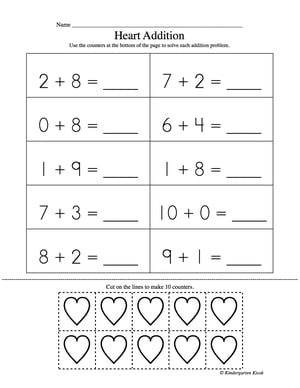 Addition Worksheets : kinder addition worksheets ~ Free Printable ...