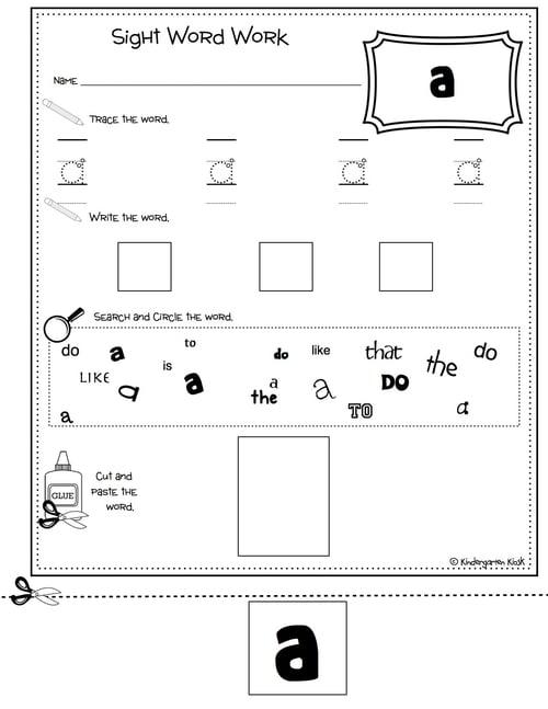 kindergarten sight word no prep multi task worksheets kindergarten best free printable worksheets. Black Bedroom Furniture Sets. Home Design Ideas