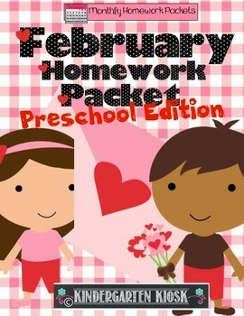 https://www.teacherspayteachers.com/Product/February-No-Prep-Preschool-Homework-Packet-495303