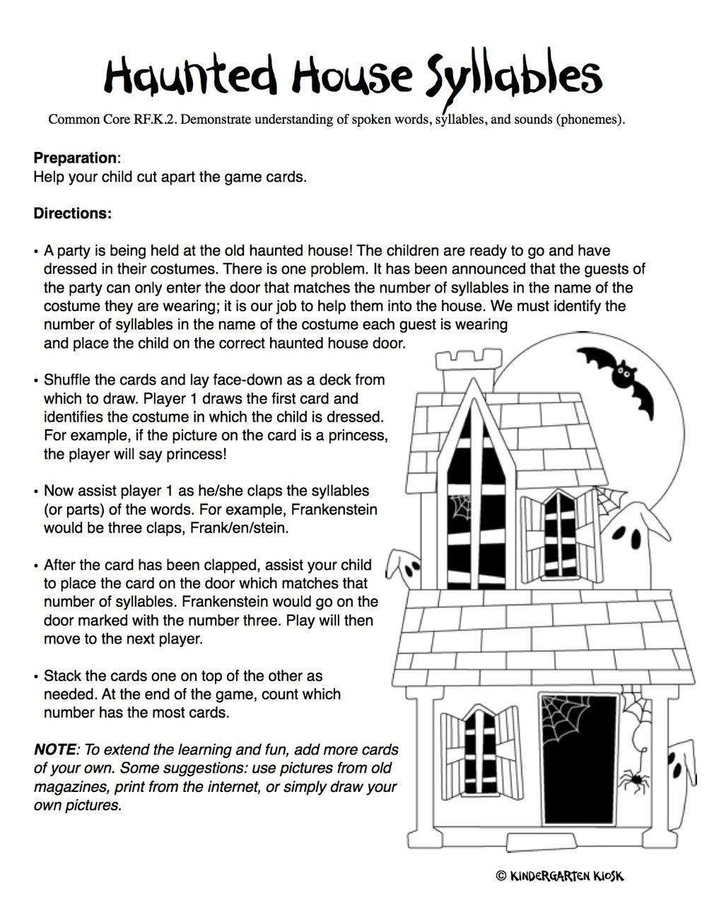 october1 - Kindergarten Homework Packets