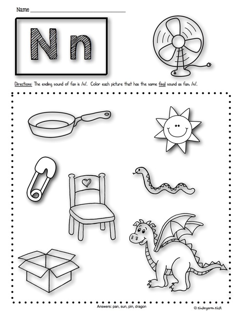 Phonics Prep Ending Sounds Worksheets Kindergarten Kiosk – Ending Sound Worksheets
