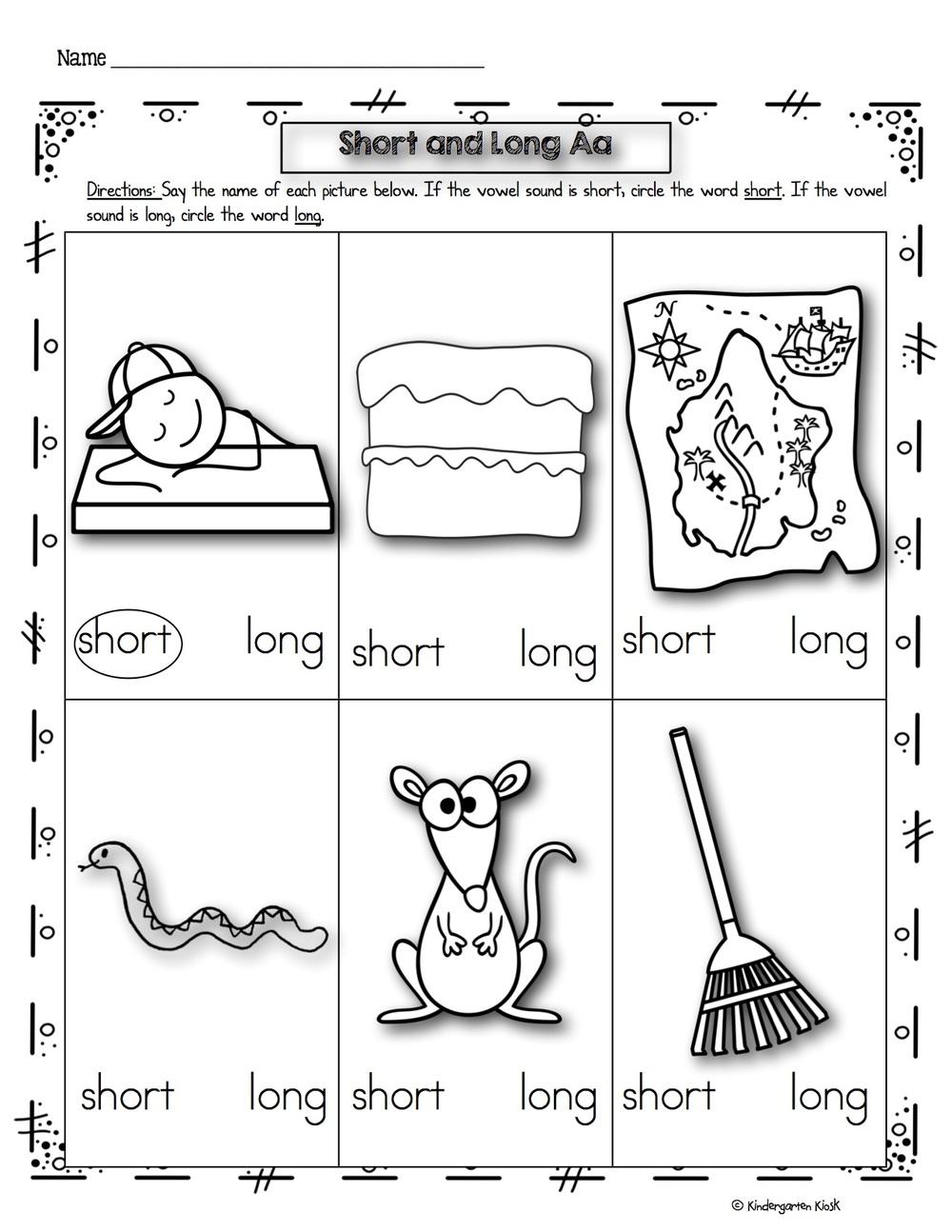 Phonics Prep Vowels Medial Sound Worksheets Kindergarten Kiosk