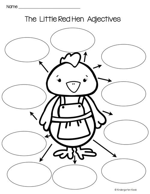 Little Red Hen: Writing Center Activities — Kindergarten Kiosk