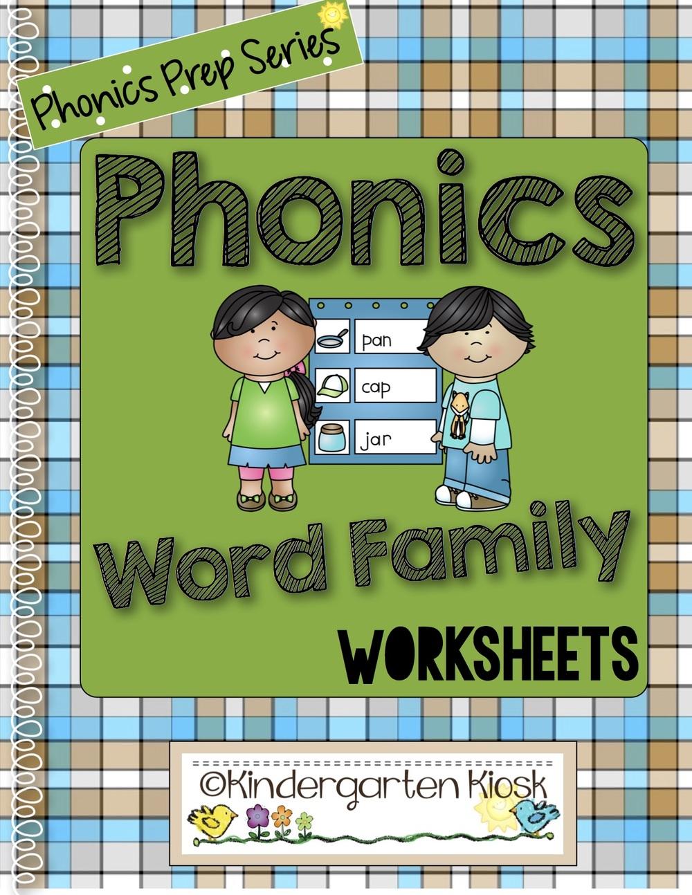 Phonics Prep Word Family Worksheets Kindergarten Kiosk
