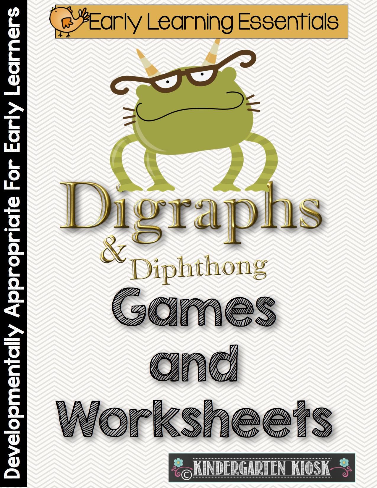 Diagraph and Diphthong Games Kindergarten Kiosk – Diphthongs Worksheets