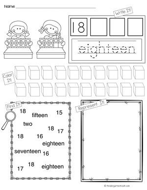 Building Teen Numbers — Kindergarten Kiosk
