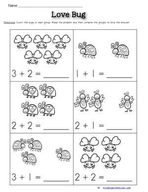 Addition Worksheets » Kindergarten Addition Worksheets To 5 - Free ...