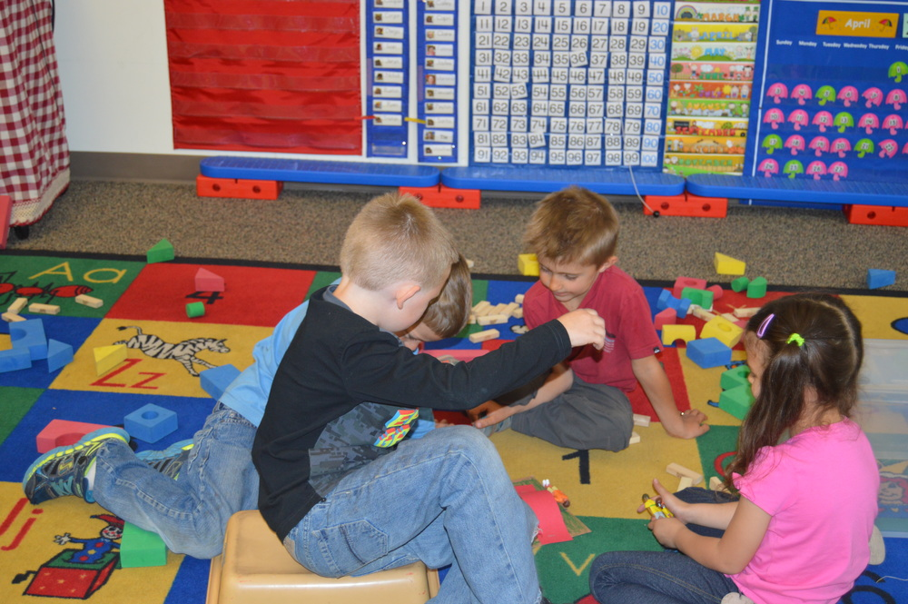 Kindergartners enjoying age-appropriate play.