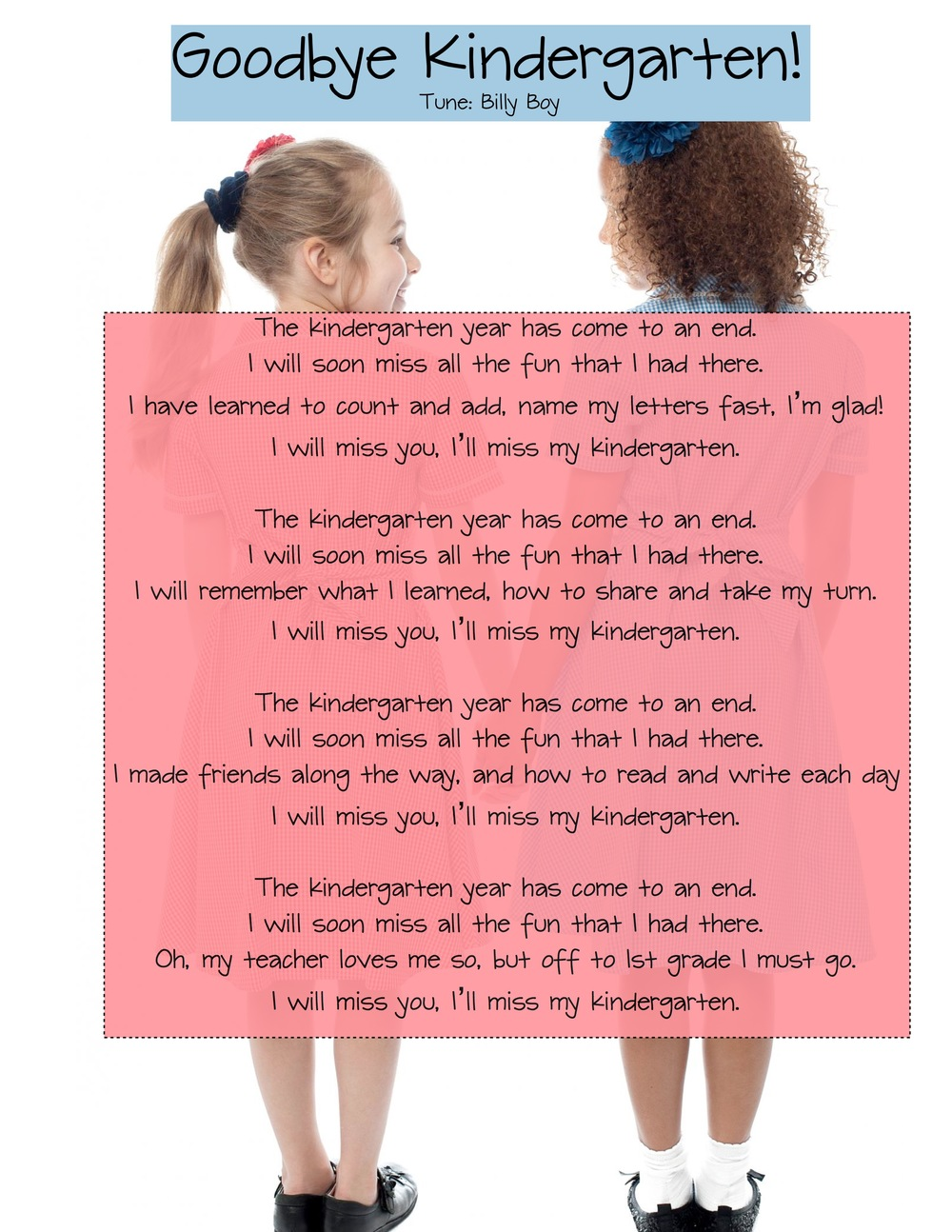 preschool teacher goodbye letter to students