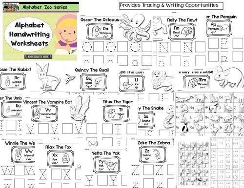 Alphabet Zoo Upper Lowercase Alphabet Handwriting Worksheets – Alphabet Handwriting Worksheets