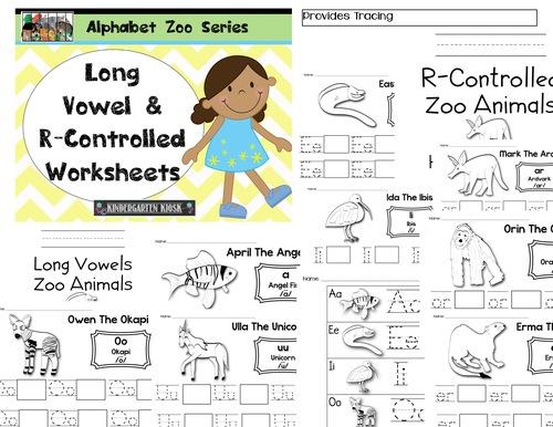 Alphabet Zoo Long VowelRControlled Handwriting Worksheets – R Controlled Vowels Worksheets