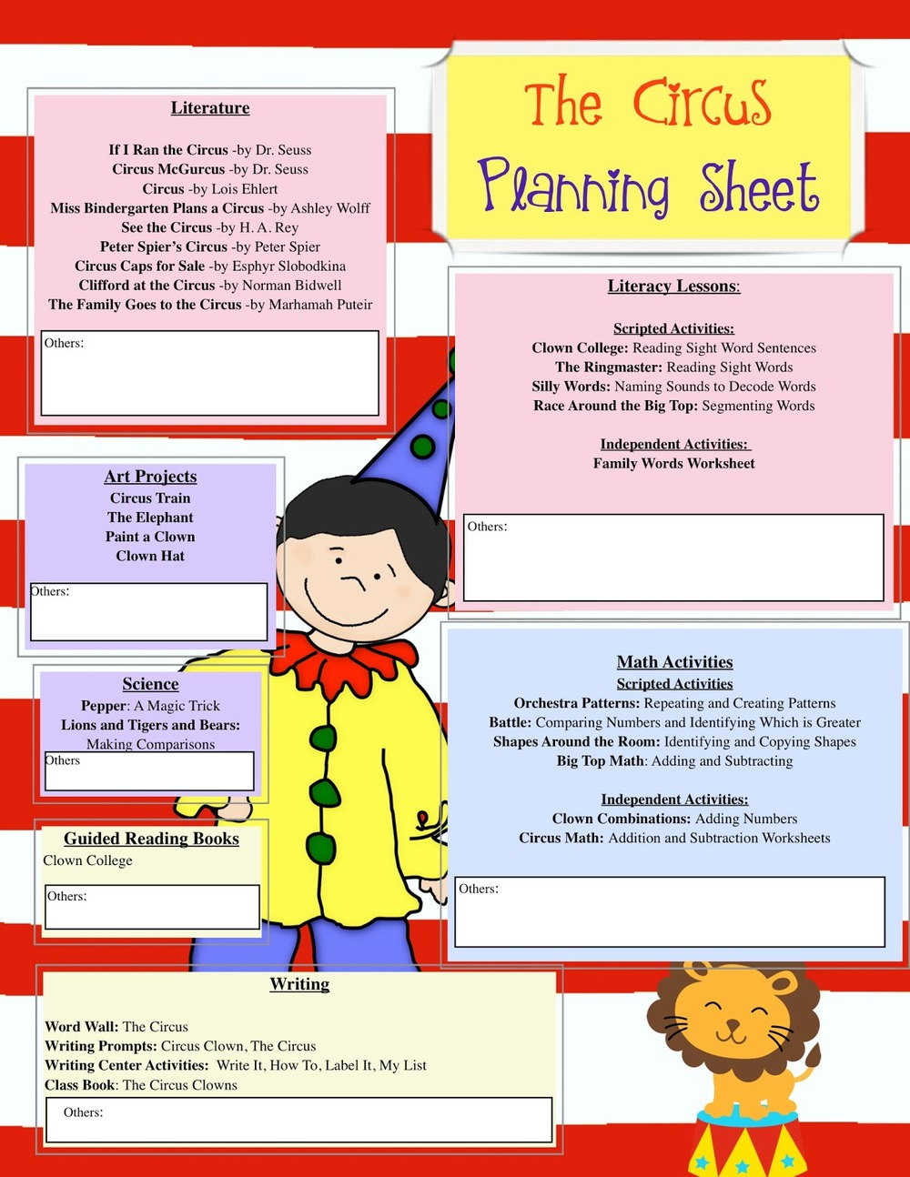 Every unit includes its own cross-curricular planing guide.