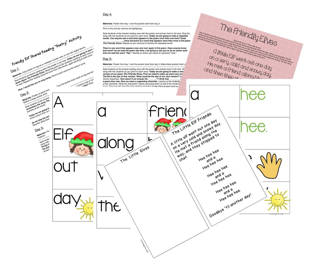 The Little Elves Poetry Activity: 5 Day Plan