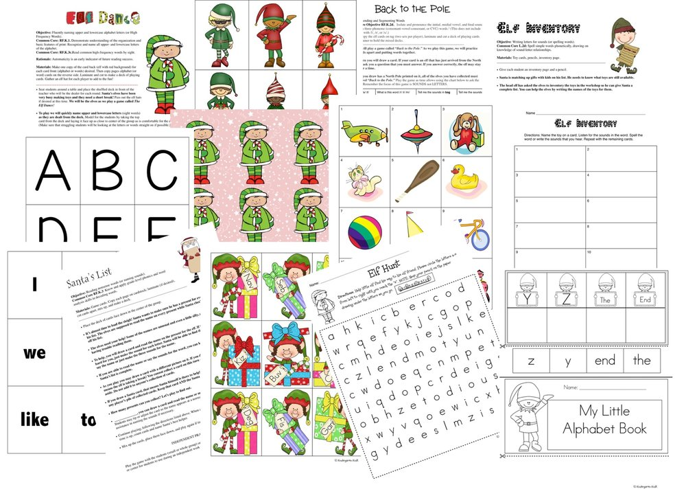 A sample of the literacy lessons and worksheets that are included.