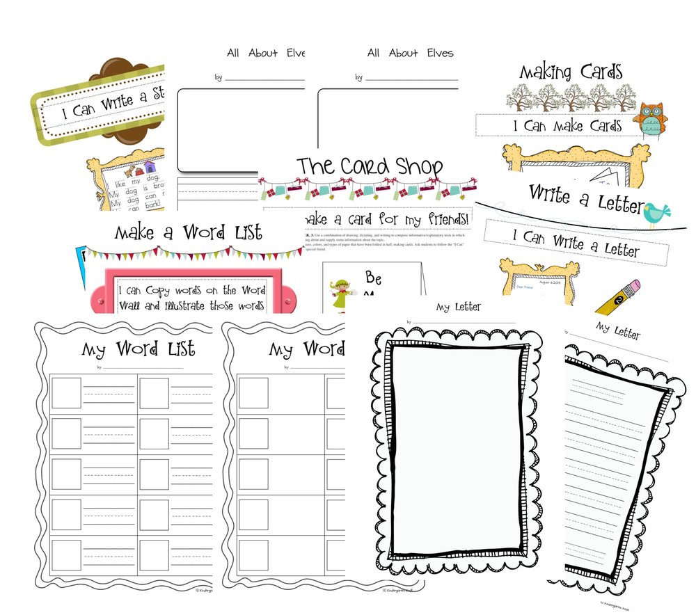 Materials included to get kids writing.