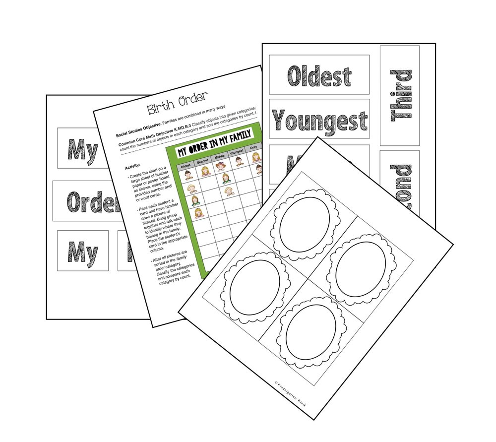 Creating a classroom birth order chart allows students the change to sort, and classify data and then record that data in a graph form.