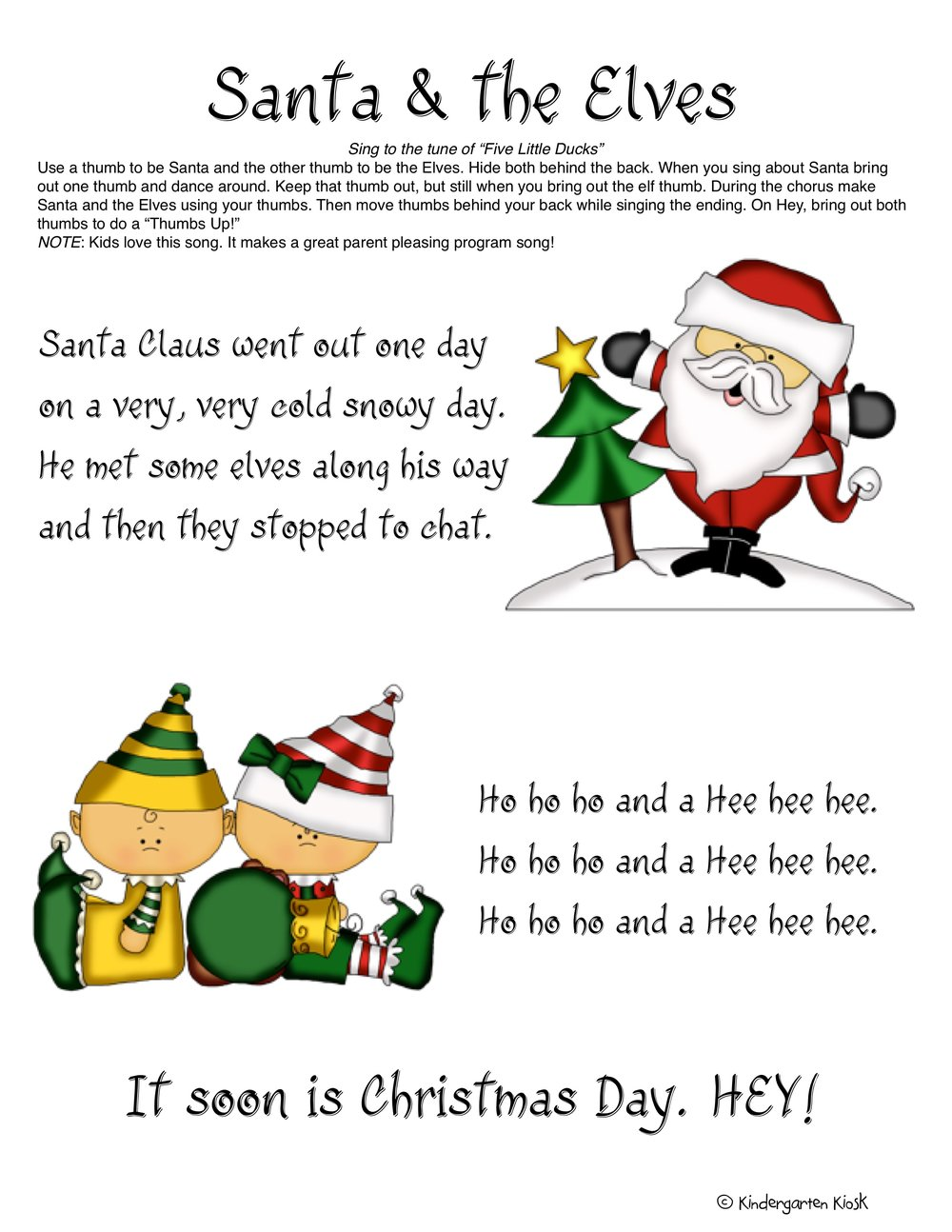 I love this original song I wrote many, many years ago, kids love it every year. This poster is included among this great Thematic Unit.