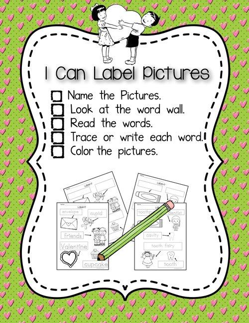 February Theme Independent Writing Practice — Kindergarten Kiosk