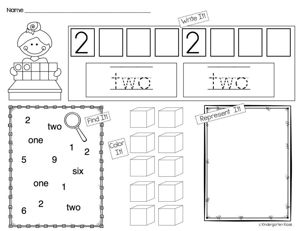 Number Sense Worksheets 1-10 — Kindergarten Kiosk
