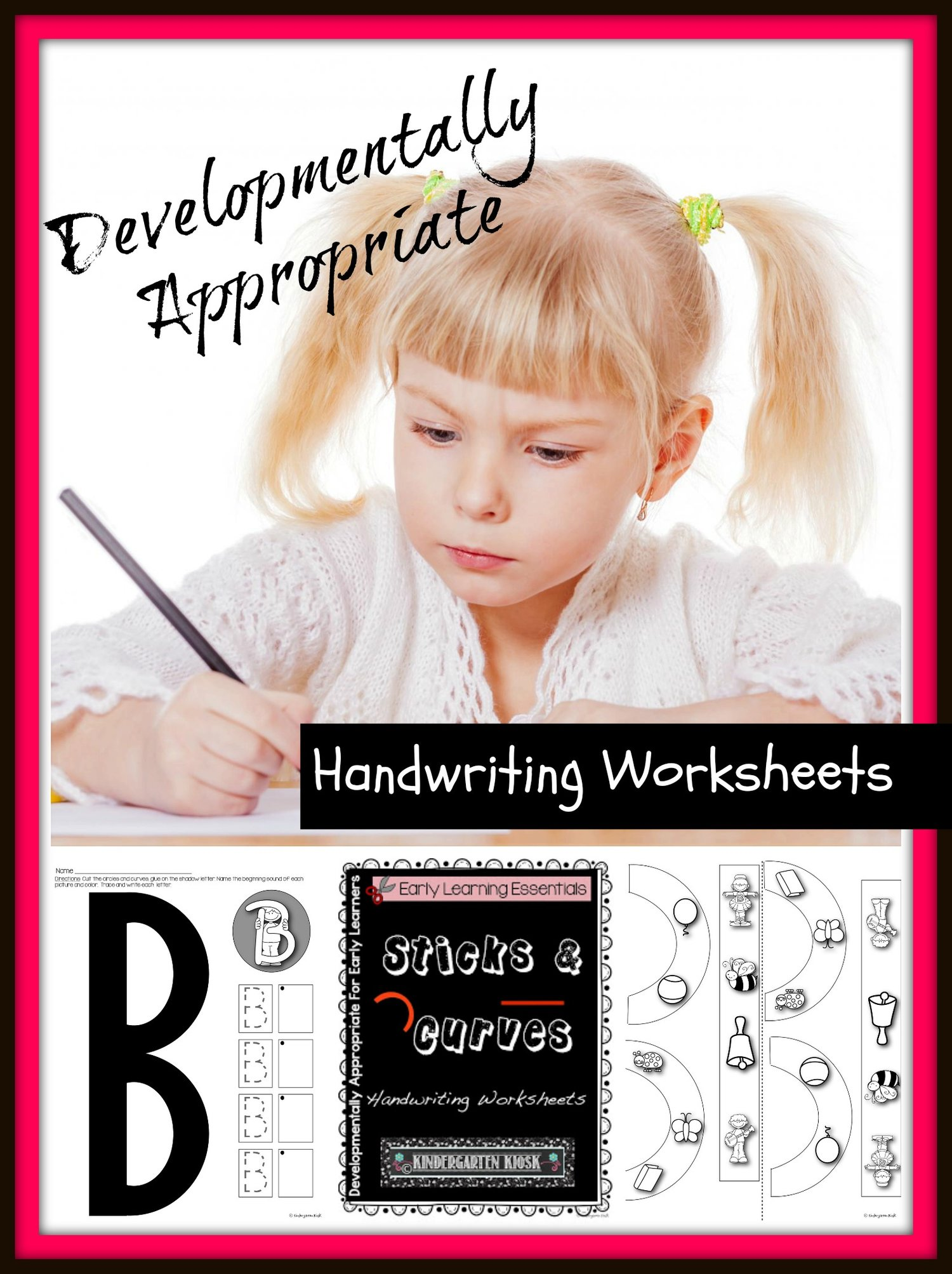 Uppercase Handwriting Worksheets Sticks And Curves Kindergarten Kiosk