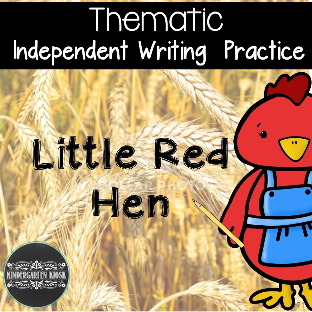 Little Red Hen: Writing Center Activities