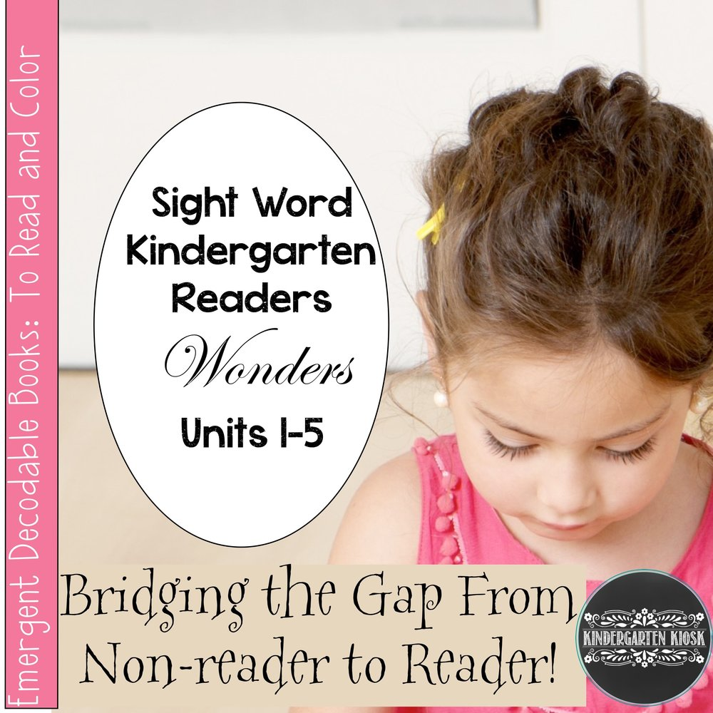 Sight Word Kindergarten Readers for Wonders Units 1-5