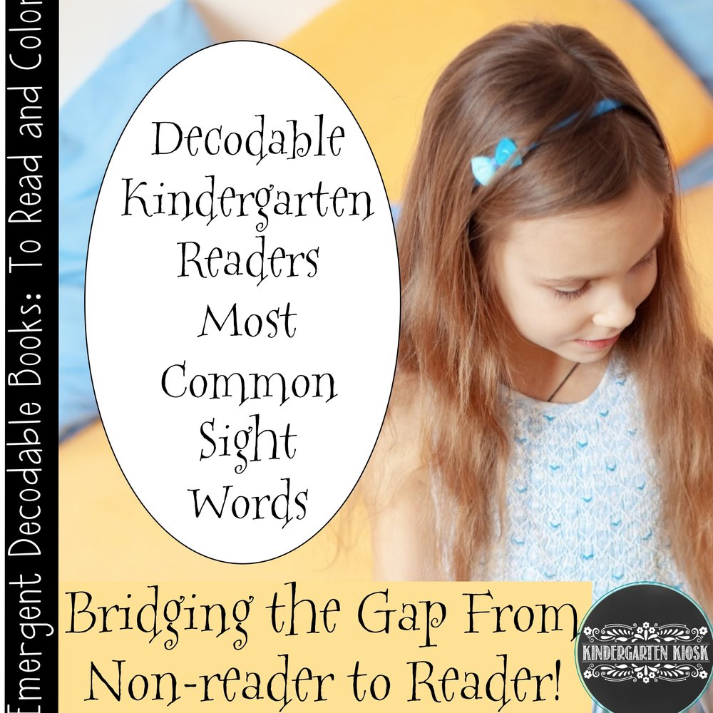 Sight Word Kindergarten Readers First 12 Common Sight Words