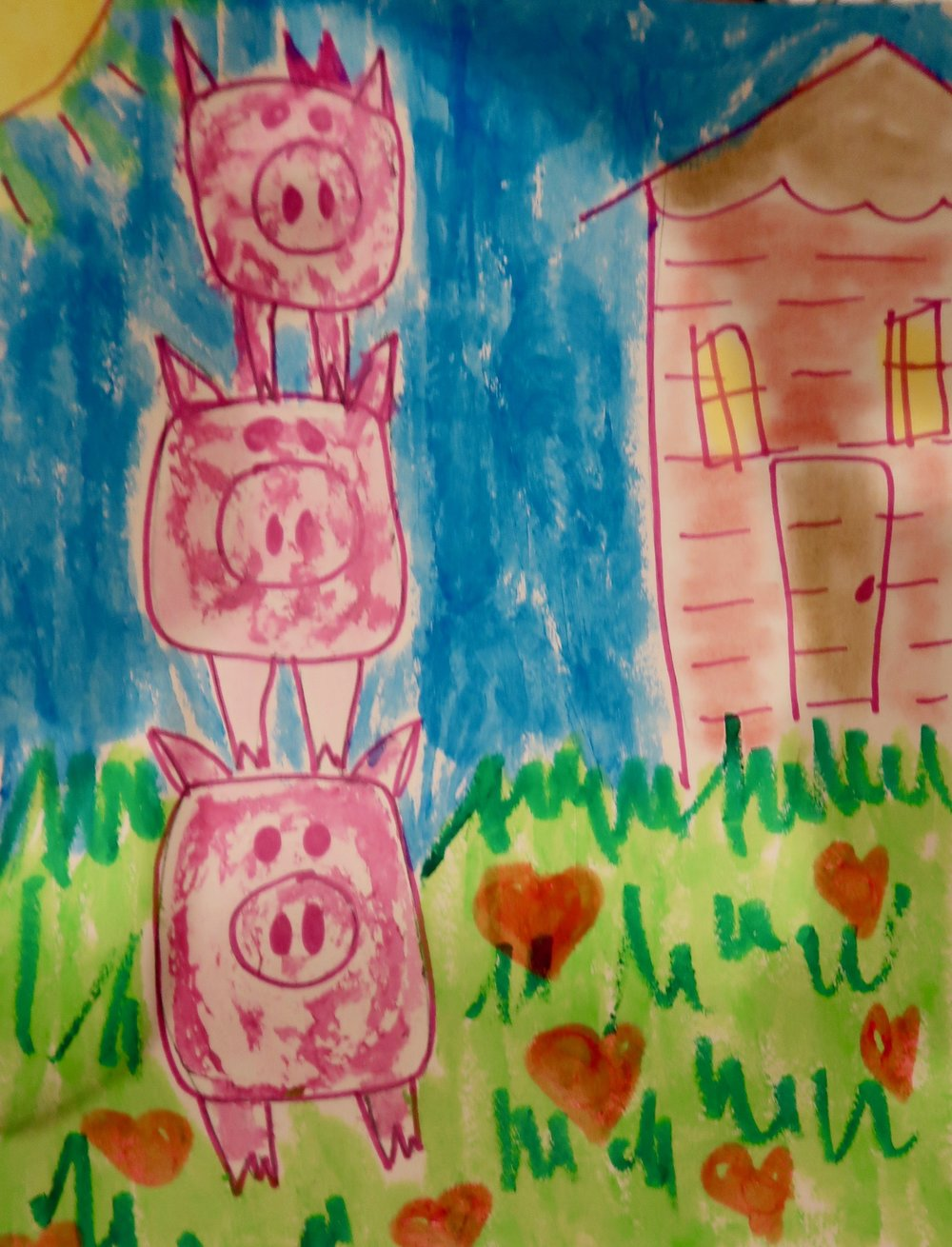 The Three Pigs Guided Drawing