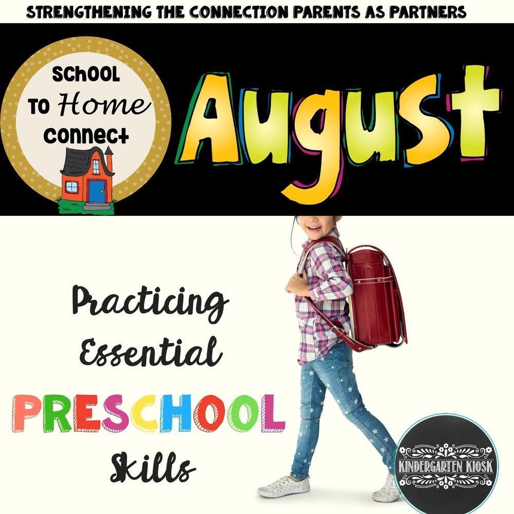 Kinder Garden: August Preschool Homework Packet