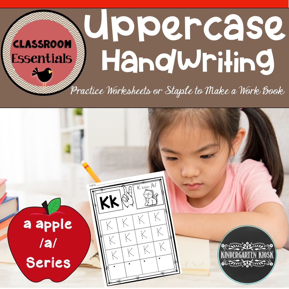 Uppercase Handwriting Worksheets Kindergarten Kiosk