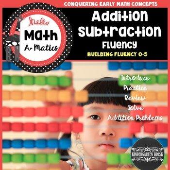 addition and subtraction fluency worksheets  kindergarten kiosk