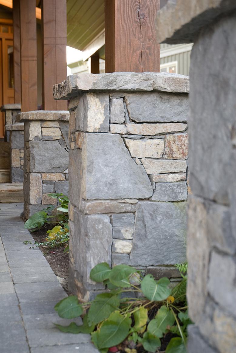 Basalt entryway pillars
