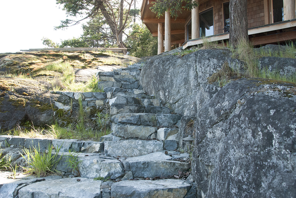 Landscaping staircase, Keats Island