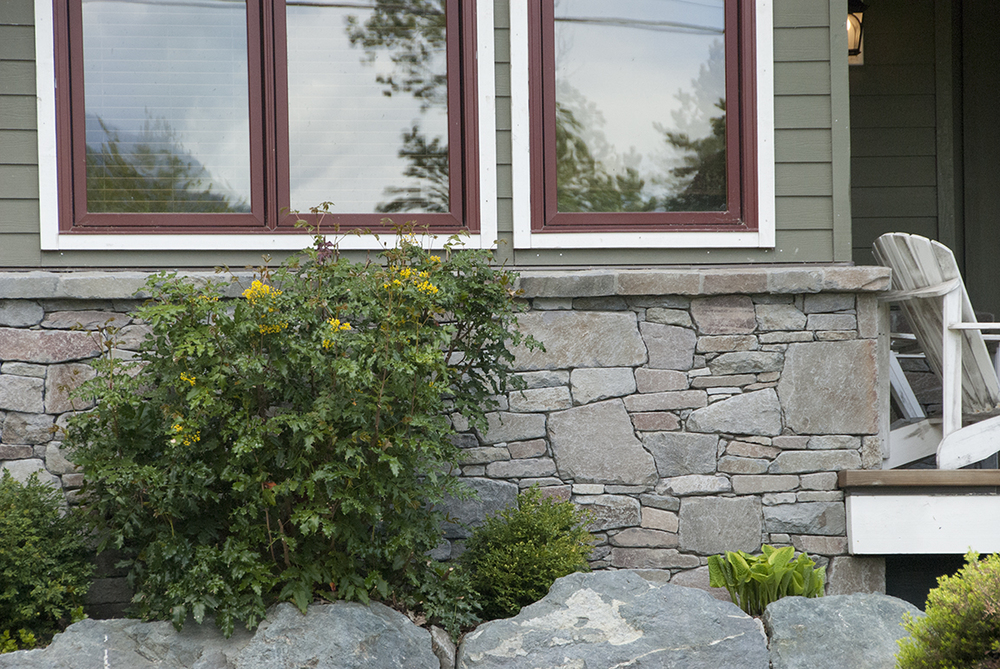Exterior brohm stone wall detail
