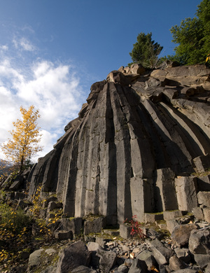 Basalt columns south of Whistler