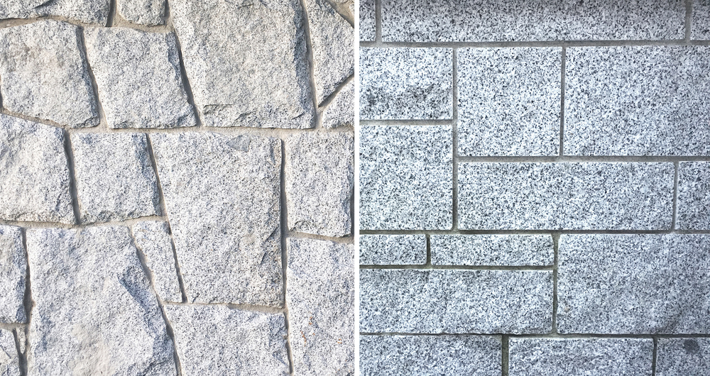 Random granite and square cut ashlar granite