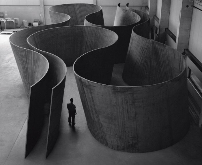 Richard Serra -  Inside Out  - 2013, weatherproof steel