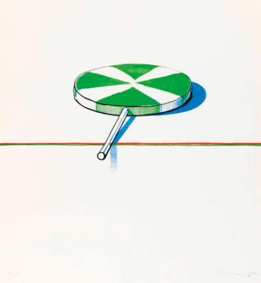 "Wayne Thiebaud, ""Large Sucker"", 1971"