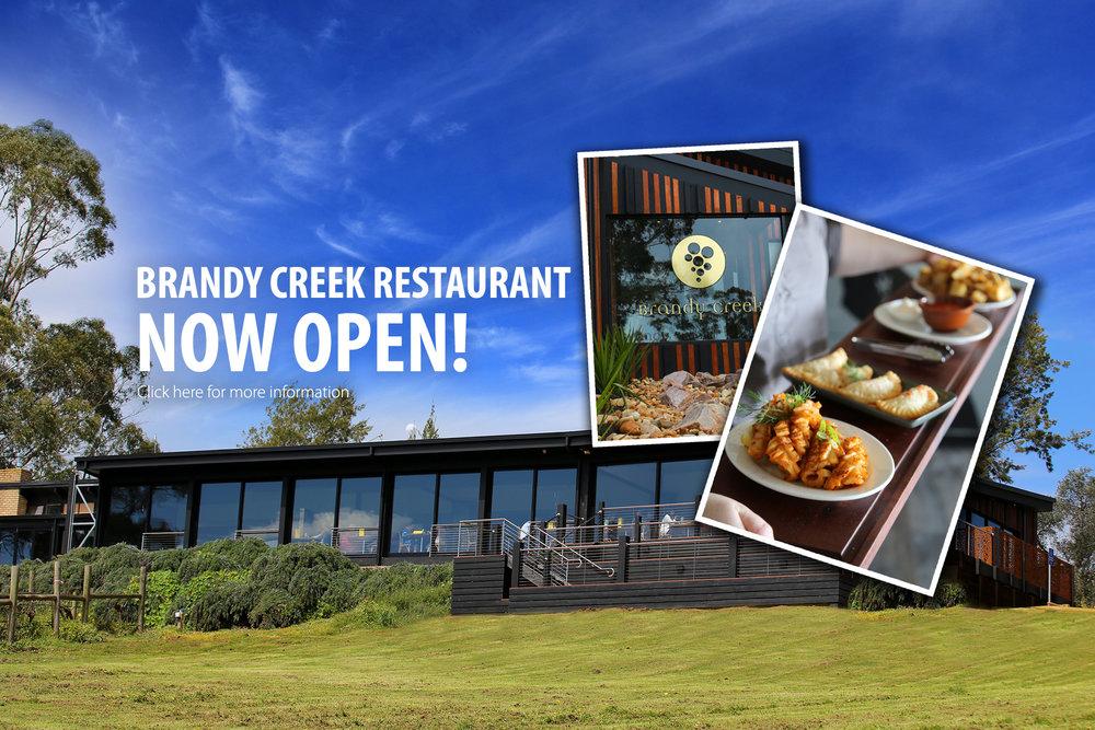 Brandy Creek Restaurant Now Open!
