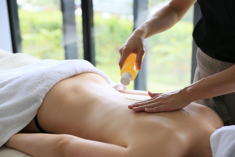 Warm Oil Back Massage
