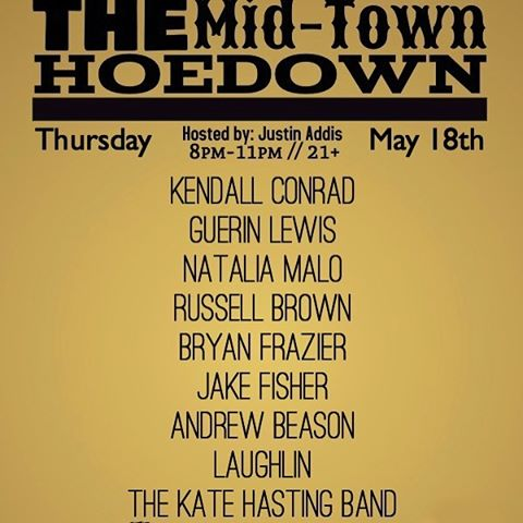 Always a pleasure to be invited to play in #nashville ! Y'all come hang with us tonight and maybe get the #weekend started early @themidtownhoedown in #midtownnashville ! Got some new tunes for you! #nashvilletn #midtownhoedown #bluebar #livemusic