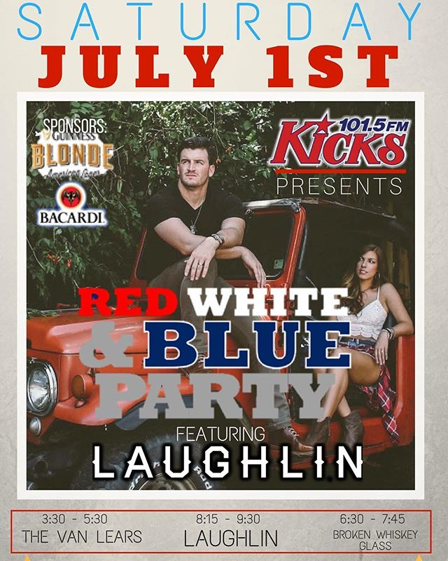 This weekend folks!! Excited to celebrate our #freedom with @kicks1015 @lakelanierislands ! We hit the stage at 8:15 PM! #happyfourth #fireworks #lakelanier #sunsetcove
