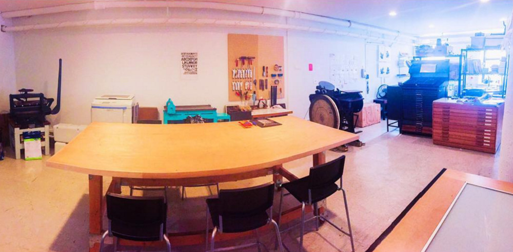 A panorama view of our current community space.