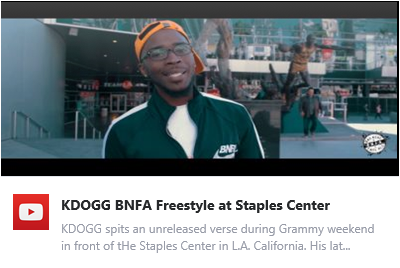 New Visuals - KDOGG BNFA Freestyle at the Staples Center