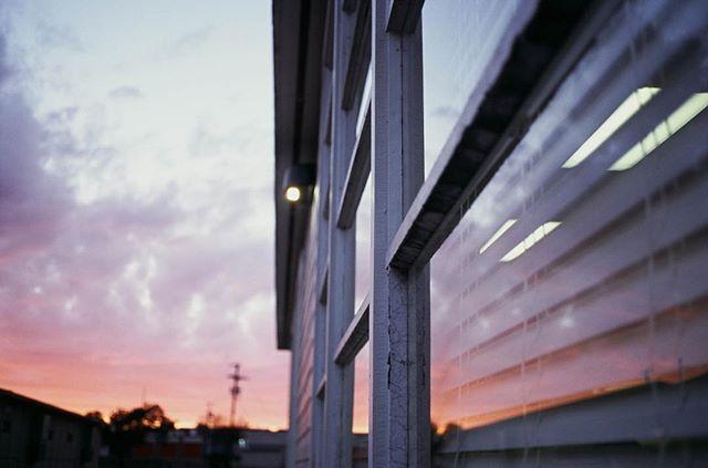 . . . . . . . . . . . #ektachrome100 #kodakektachrome #kodak #kodak_photo #contax #contaxt3 #zeiss #film #reflection #sunset #texas
