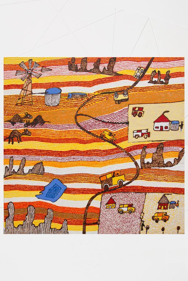 Maruku Arts - Walka Board - Niningka Lewis