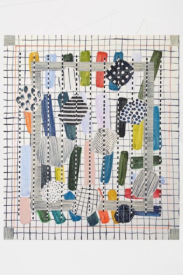 Julia Flanagan Artwork - Shifting Spatial Colour Connections